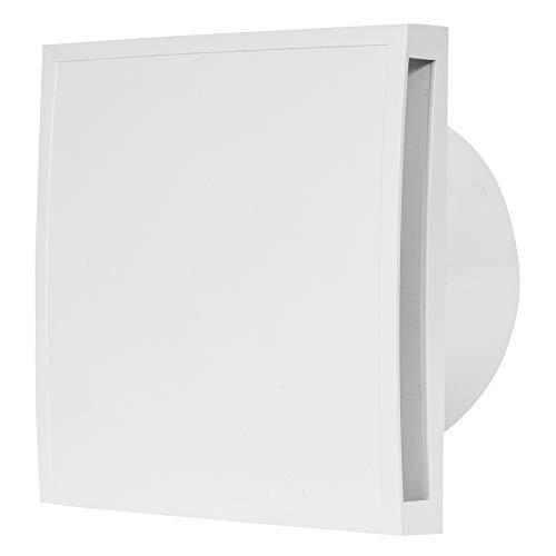 Ø 150mm Badlüfter mit Timer - mit weiß Front - Ventilator Lüfter Wandlüfter WC Bad Küche leise Kleinraumventilator