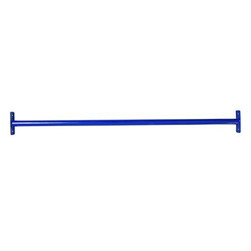 ESTEXO Reckstange Turnstange Klimmzugstange Kletterstange Turnreck Metallreck Gymnastik Gymnastikstange RAL5002 (Blau) 125 cm