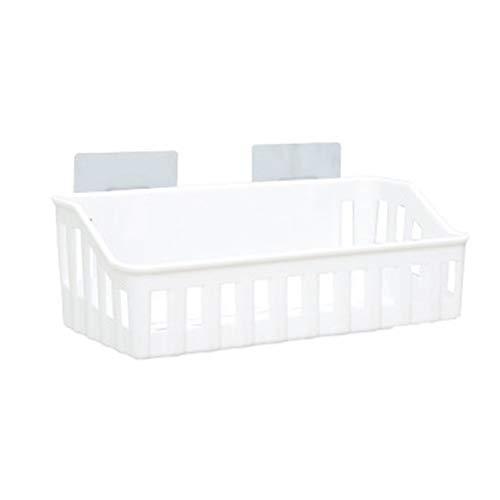 Cloverclover Nicht perforiertes Badezimmerregal Kunststoff-Hängegestell für Toilette, Beige