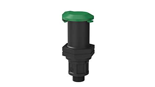 Kirchhoff Wassersteckdose | Kunststoff | 3/4' AG | für HDPE Rohr | Verschiedene Größen | DVGW geprüft | Trinkwasserqualität | Made in EU, schwarz