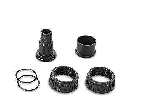 Anschlussverschraubungen für AquaPlus + Badu Magic Pumpen | Set für Poolpumpen | Pumpen-Anschluss-Set