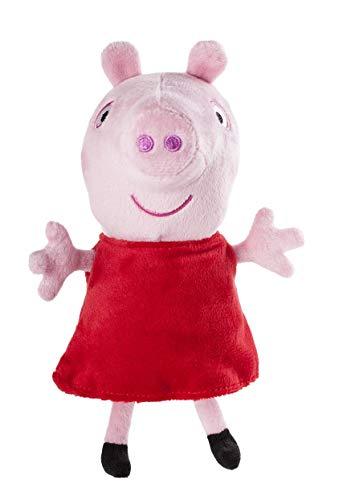 Jazwares 92661 - Peppa Wutz Peppa Kuscheltier mit Sound, Weiche Plüschfigur ca. 15 cm groß, Plüsch Figur zum Schlafen, Stofftier zum Spielen, Original Peppa Pig Plüschtier für Kinder ab 18 Monate