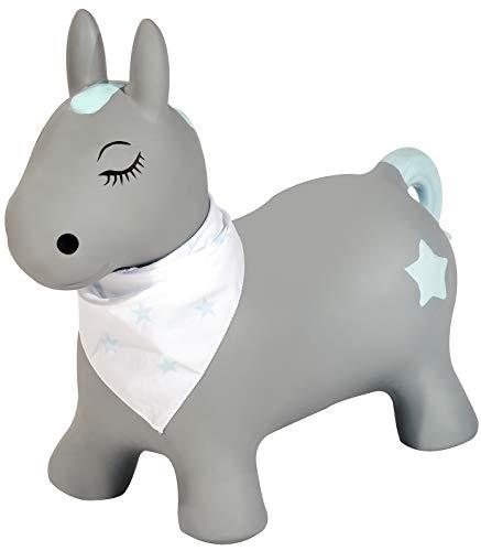 Kindsgut Hüpf-Tier für Kinder, dezente und Moderne Farben, liebevolle Details und hochwertige Qualität, inklusive Luftpumpe, Pony