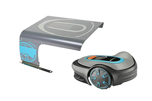 IDEA MOWER Garage für Mähroboter Vader Micro, Mähroboter-Garage kompatibel mit Gardena Sileno City, Sileno Life, Sileno Minimo, Rasenmähroboter Garage, Garage Automower, Schutz aus Aluminiumlegierung