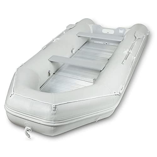 EBERTH Schlauchboot für 8 Personen (Länge 4,60m, Breite 1,90m, Beladung bis 1100kg, 2X Sitzbank, Aluboden, 2X Paddel, Pumpe, Reparaturset, Tragetasche, geeignet für Motoren bis zu 50 PS)