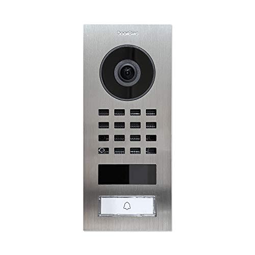 Türanlage mit Kamera und Türöffner DoorBird D1101V V4A Edelstahl gebürstet Unterputzmontage IP Video Türsprechanlage