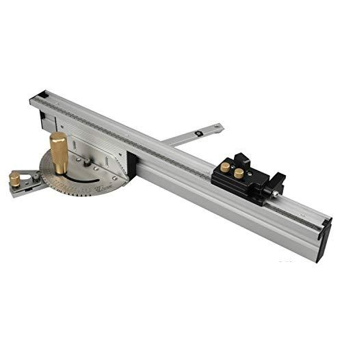 Pelze Holzverarbeitung Pusher Rechenschieber Tischsäge Messwerkzeug, Stil: Kupfer Griff + 450mm + Limit QiuGe