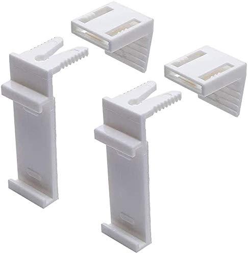 Klemmträger Verstellbar Klemmfix für Doppelrollo und Rollo Ohne Bohren Zubehör (4 Stück)