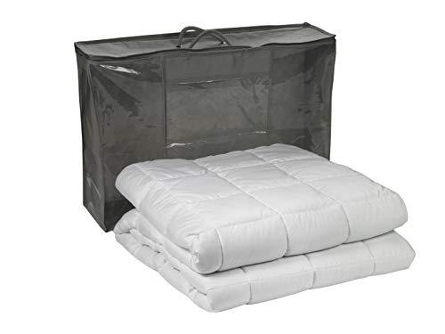 sleepling 197255 Gewichtsdecke 9 kg, Entspannungsdecke gegen Stress und Schlafstörungen als Kassettendecke mit Glasperlenfüllung, 135 x 200 cm, weiß