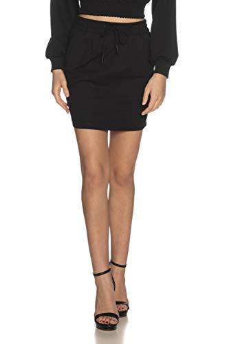 ONLY NOS Damen Onlpoptrash Easy Skirt PNT Noos Rock, Schwarz (Black Black), 38 (Herstellergröße: M)
