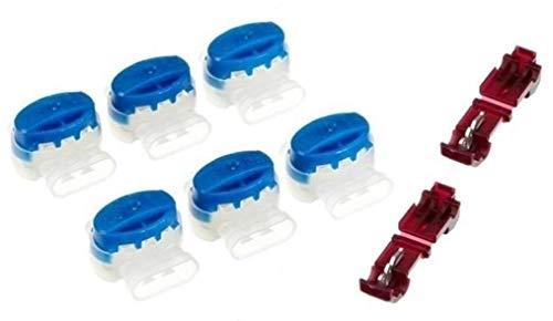 Genisys 6 Kabel Verbinder + 2 Anschlussklemmen kompatibel für Gardena ® R38Li R40Li R45Li - Original 3M Scotchlok