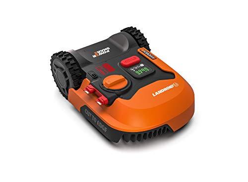 WORX Landroid M WR141E Mähroboter/Akkurasenmäher für kleine Gärten bis 500 qm/Selbstfahrender Rasenmäher für einen sauberen Rasenschnitt