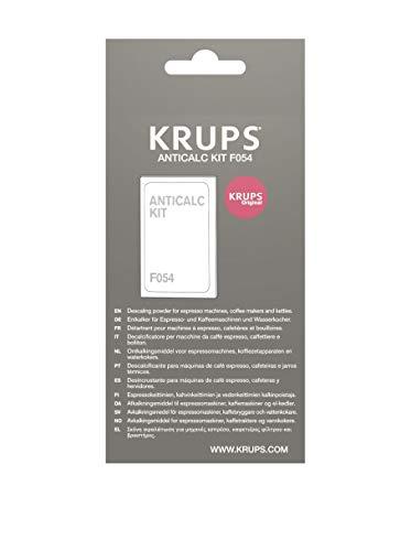 Krups Original Entkalker F054 - Entkalker für Kaffeemaschinen & Kaffeevollautomaten, Universal Kalklöser für optimale Pflege, 2 Entkalkungsbeutel für 2 Anwendungen
