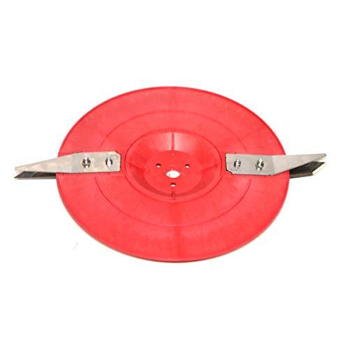 AL-KO 127401 Messerscheibe für Robolinho-Mähroboter 110, 1000 und 1100 (Schneid- und Räummesser bereits montiert), lange Lebensdauer der Messer, präzises Schnittbild, 28 cm Schnittbreite, Arancione