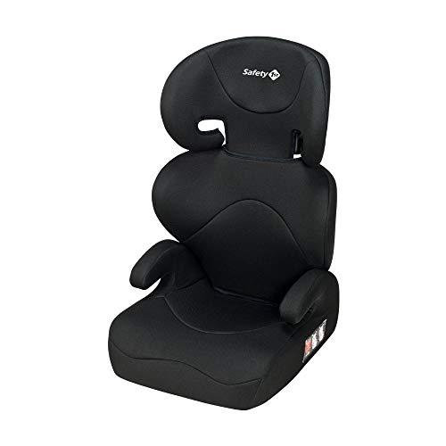 Safety 1st Road Safe Kindersitz, mit verstellbarer Kopfstütze und Rückenlehne, komfortabler Gruppe 2/3 Autositz (15-36 kg), nutzbar ab 3,5 bis 12 Jahre, Full Black