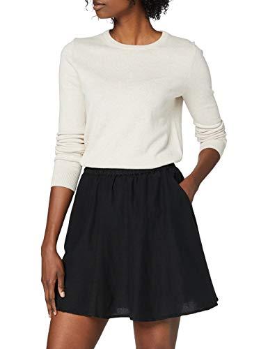 PIECES Damen PCMANINA HW Skirt BC Rock, Black, S