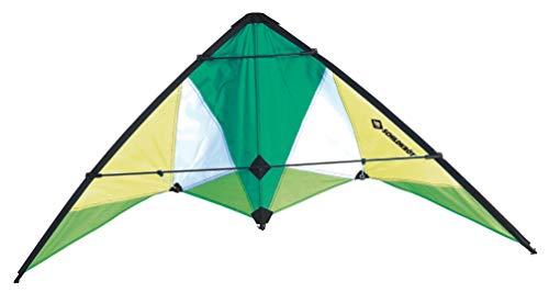 Schildkröt Stunt Kite, verschiedene Größen wählbar, Zweileiner Lenkdrache, ab 10 Jahren, inkl. 25 kp Polyesterschnüre, 2x30m auf Steuerspulen