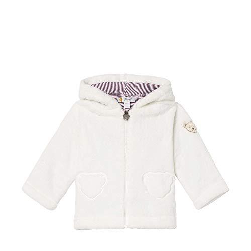 Steiff Baby - Mädchen Jacke , Weiß (CLOUD DANCER 1001) , 80 (Herstellergröße:80)