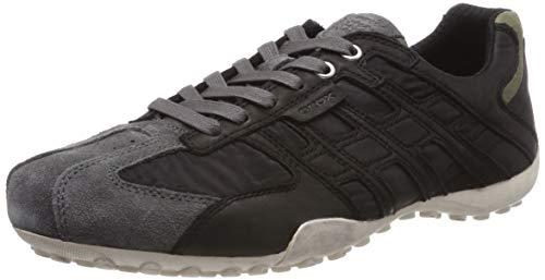 Geox Herren Uomo Snake a Sneaker, Schwarz (Black/Dk Grey C0005), 47 EU