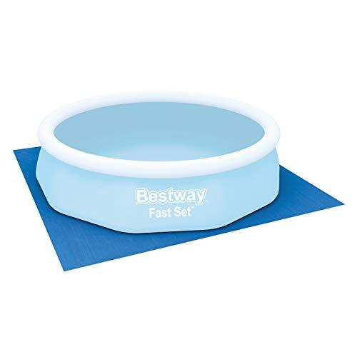 Bestway Flowclear™ quadratische Bodenplane, 335 x 335 cm, für Aufstellpools bis Ø 305 cm, blau