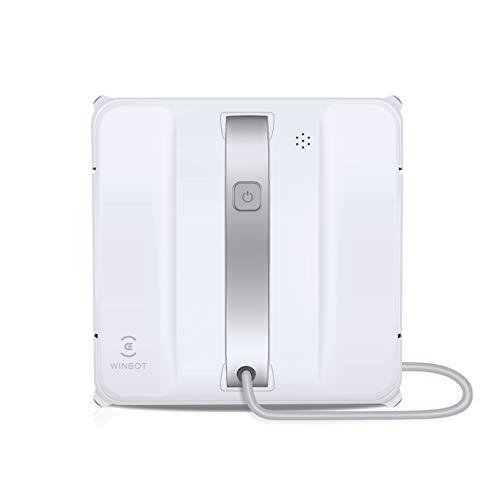 Ecovacs WINBOT 880 Fensterputzroboter – intelligenter Fensterreinigungs-Roboter mit 4-Stufen System & Randerkennung: gründlich, effizient, sicher, Weiß, W880