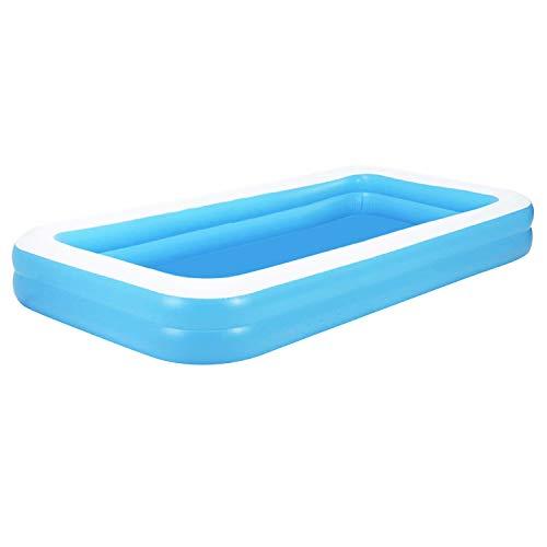 Aufblasbarer Pool Family Pool Deluxe, Kinderpool Planschbecken Schwimmbad Family Ocean Ball PoolPlanschbecken, PVC-Klappbarer langlebiger Swim Pool für Familie, Garten, Outdoor 181 * 141 * 46cm