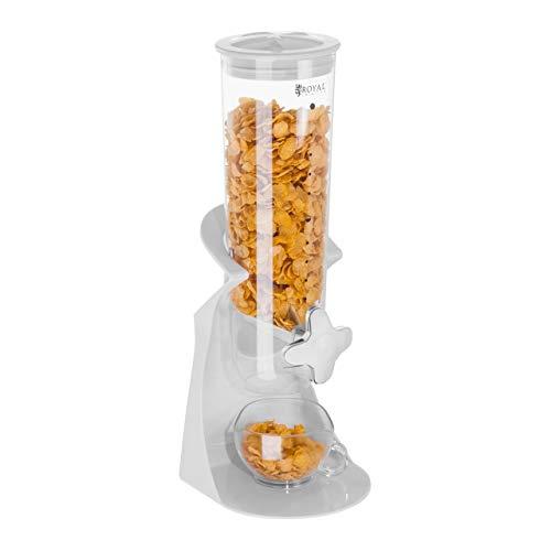 Royal Catering - Müslispender Cerealienspender (1,5 L Fassungsvermögen, Ausguss, Ablage für 8,5 cm hohe Schüsseln, Polystyrol) Grün