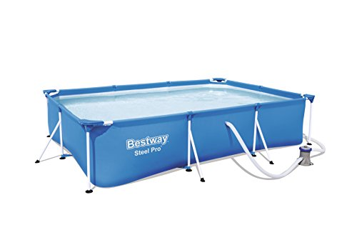 Bestway Frame Pool Deluxe Splash - Steel Pro, Set mit Filterpumpe, 300 x 201 x 66 cm, blau