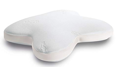 TEMPUR Ombracio Schlafkissen ergonomisches Bauchschläferkissen in Schmetterlingsform, Microflocken, Weiß, 1 Stück (1er Pack)