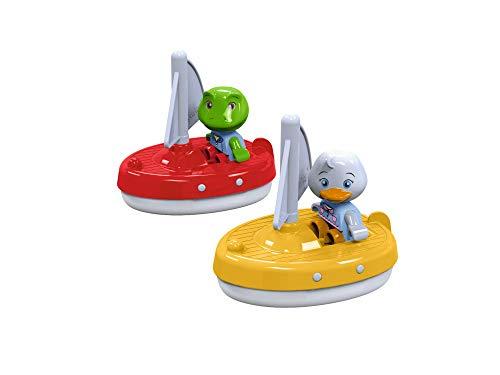 AquaPlay 8700000254 - 2 Segelboote + 2 Figuren - Zubehör für AquaPlay Wasserbahnen oder für die Badewanne, 2 Segelboote und Nils und Lotta, für Kinder ab 3 Jahren