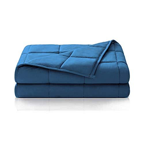 Dailydream Therapie Gewichtsdecke aus Baumwolle, 6Kg für Erwachsene, 135x200cm, blau