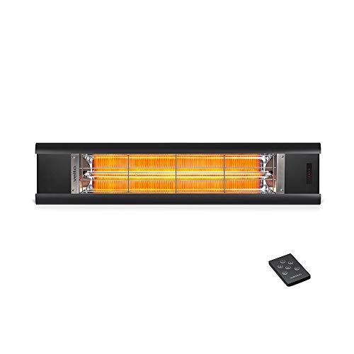 veito Aero S Infrarot-Heizstrahler | Carbon | Terrassenstrahler | Wärmestrahler | 2500 W Wärmelampe | mit Fernbedienung | Heizstrahler-Terrasse-elektrisch | 4 Heizstufen | IP44 | Infrarotheizung