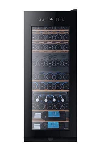 Haier WS53GDA Weinkühlschrank / 53 Flaschen / 127 cm Höhe / Zwei Temperaturzonen / UV-Schutz / LED-Display zur Temperatureinstellung / Innenbeleuchtung