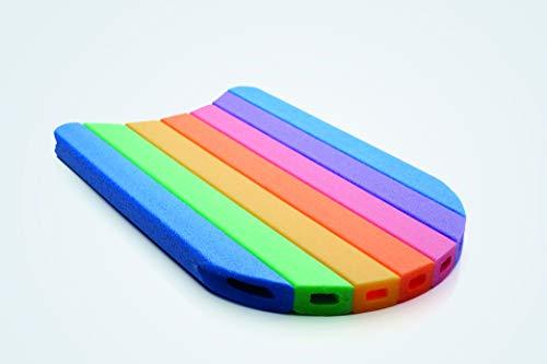 COMFY® KICK Schwimmbrett, Kickboard, Schwimmhilfe, Auftriebshilfe in Regenbogenfarben 48 x 30 cm