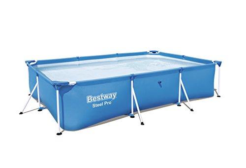 Bestway Steel Pro Frame rechteckig Pool, ohne Pumpe, blau, 300 x 201 x 66 cm