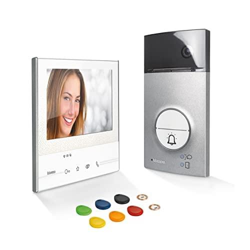 BTicino, Flex ONE 2-Draht Videosprechanlagen WLAN Set, Classe 300 X13E mit 7' Touchscreen, 105° Weitwinkel Kamera, Video Speicherung, Transponder Türöffner-Schlüsselloser Zugang, IP54, IK10, 363911