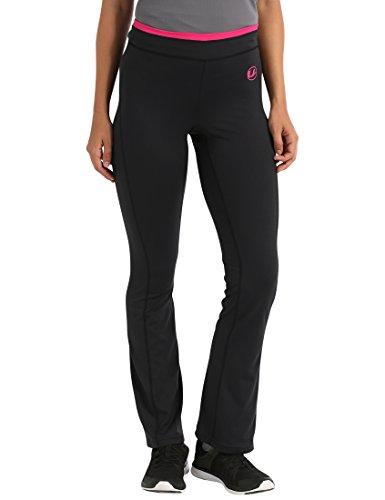 Ultrasport Damen Fitnesshose Long Jogginghose, schwarz (black/pink), S