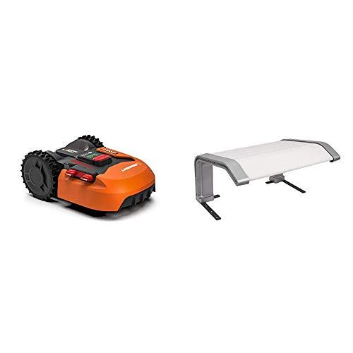 Worx Landroid S WR130E Mähroboter / Akkurasenmäher für kleine Gärten bis 300 qm / Selbstfahrender Rasenmäher für einen sauberen Rasenschnitt & WA0194 Landroid Landroid-Garage-WA0194
