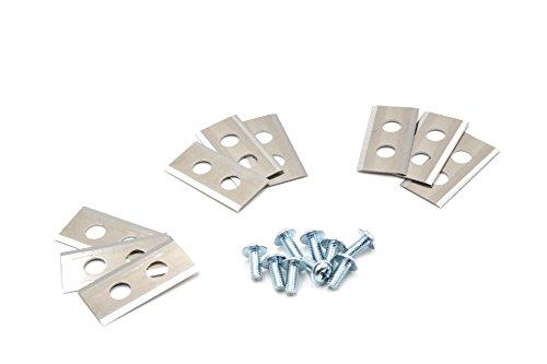 vhbw 9x Messer Klingen kompatibel mit Worx Landroid L1500i, M500 B, M1000, M1000i, M800, S500i, M WG794E, WA0176, WA0190 Mähroboter uvm. Stahl, 0.75mm