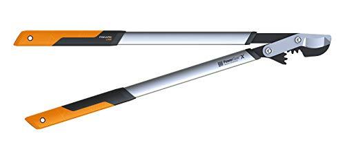 Fiskars PowerGear X Bypass-Getriebeastschere für frisches Holz, Antihaftbeschichtet, Gehärteter Präzisionsstahl, Länge: 80 cm, Schwarz/Orange, LX98-L, 1020188