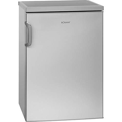 Bomann VS 2195.1 Vollraumkühlschrank / Energieeffizienzklasse D / 84.5 cm / 72 kWh/Jahr / 133 L Kühlteil / inox, silber