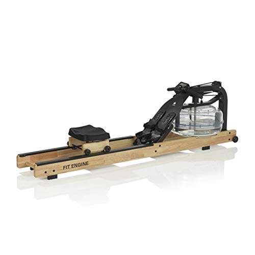 FitEngine Wasser-Rudergerät | Realistisches Rudergefühl durch regulierbaren Wasserwiderstand | Ergonomischer Rudersitz für Deine korrekte Haltung