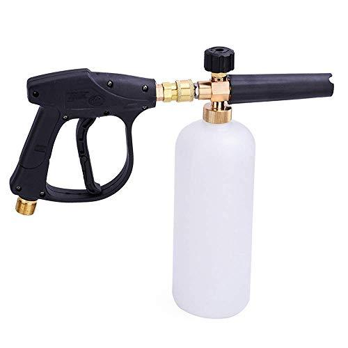 Schneeschaumlanze Auto Wascher Schaumstoff Flasche mit Hochdruckwascher pistole Adjustable Nozzle Soap Dispenser 1/4' Quick Release Verbinder(mit Schaumlanze pistole)