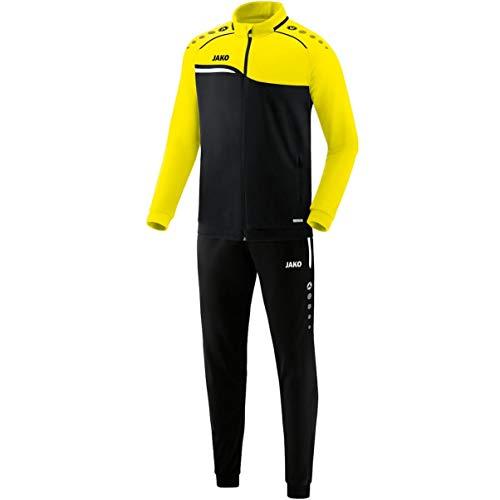 JAKO Herren Trainingsanzug Polyester Competition 2.0, schwarz/neongelb, XL, M9118
