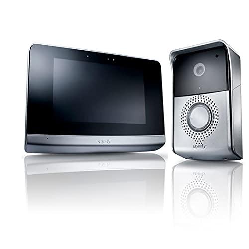 Somfy 2401446 - V500 Bildtelefon, 7-Zoll-Touchscreen Video-Sprechanlage | Nachtsicht | Treiber für bis zu 5 RTS-Automationen | Bildspeicher | Skalierbar für 2 Gehäuse