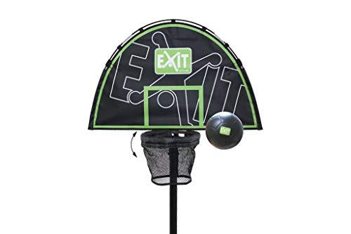 EXIT Trampolin Basket 11.40.50.01 / Basketballkorb mit Rückwand für Exit Trampoline inkl. Schaumstoffball / Farbe: schwarz-grün / Gewicht: 1 k