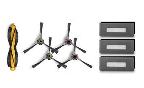 ECOVACS Ersatzteil-Set (Hauptbürste, 4x Seitenbürste, 3x Feinstaubfilter) – Original Zubehör für OZMO 930 und Pro 930 Saugroboter mit Wischfunktion, DG3G-KTA