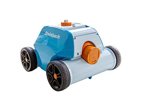 Steinbach Poolrunner Battery+, für Pools bis 80 m² Grundfläche, vollautomatisch, kabelllos, Akku-Betrieb, Leistung ca. 10 m³/h, 061013