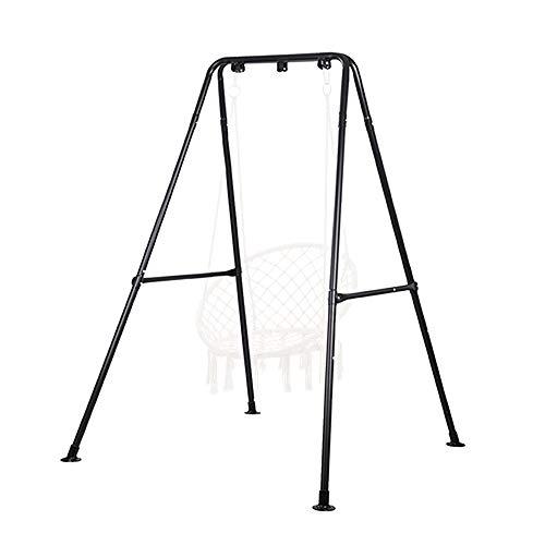 Hängemattengestell, Hängesessel Gestell, Max Belastung 150 kg, Hängematte Gestell, für den Innen- Oder Außenbereich, mit Gestell (schwarz)