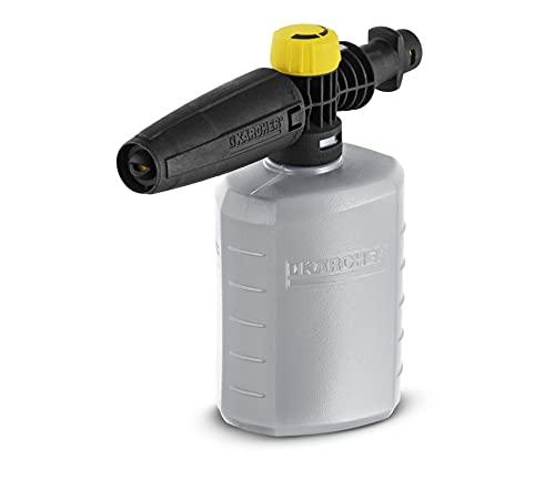 Kärcher FJ 6 Schaumdüse (Behältervolumen: 0,6 l, manuell regulierbarer Reinigungsmittelverbrauch, transparenter Behälter, kompatibel für alle Hochdruckreiniger K2 - K7)